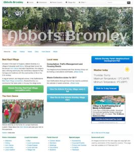 Abbots Bromley web pages