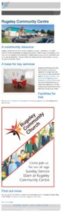 Rugeley Community Centre web pages