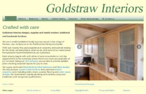 Goldstraw Interiors web pages